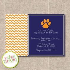 PRINTABLE Auburn Football Party by papertheory on Etsy. $15.00, via Etsy.