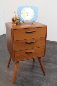 Retro Style Bedside Cabinet 1950's/60's Danish inspired in stunning Condition! in Home, Furniture & DIY, Furniture, Bedside Tables & Cabinets | eBay