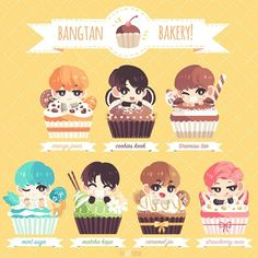 BTS - FANART. . Where is this bakery at!!! i want it all!! XD