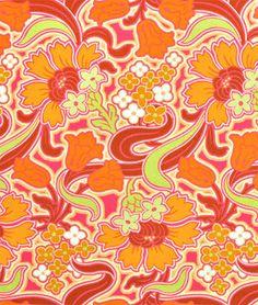 Amy Butler Disco Flower Tangerine Fabric Love Wallpaper, Pattern Wallpaper, Textures Patterns, Print Patterns, Amy Butler Fabric, Textile Prints, Textiles, Art Background, Creative Inspiration