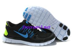 check out eebb7 ae4f3 Mens Nike Free Run Black Blue Volt Online Exclusives  Nike Free Running Shoes  UK Sale