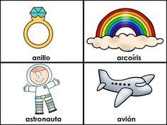Spanish Alphabet - La Letra A (Las Vocales) - El abecedario - Spanish Flashcards for the Letter A - Recurso en espanol. Spanish Vowels