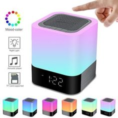 Great review(+useful)! Elecstars Portable Night Light -Touch Sensor Bedside Lamp with Bluetooth Speaker Dimmable Table Lamp with Alarm Clock 4000mAh Battery Support MP3, USB, AUX Best Gift for Kids, Party, Bedroom, Outdoor