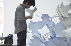 "LCD Exhibits ""As Autumn Leaves"" at Beijing's 2013 Design Week Courtesy of Laboratory of Computational Design"