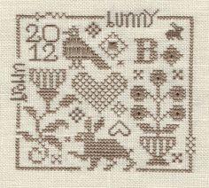 Ewe & Friends cross stitch design. small motifs