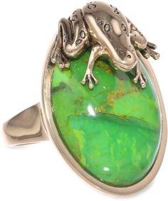 Amazon.com: Barse Wildlife Lime Turquoise Frog Ring, Size 6: Jewelry