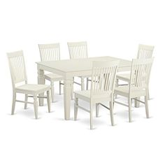 East West Furniture WEST7WHIW 7Piece Dining Table Set *** Click image for more details.Note:It is affiliate link to Amazon.