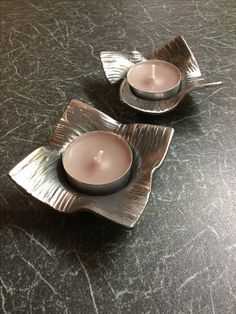 Forged metal tealight holders... perfect addition to your home. SaltyDogsCreate...