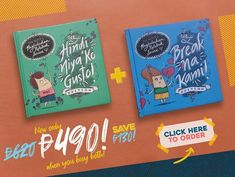 Save when you buy these two Pagluluksa Notebook Series titles! Tagalog Quotes Hugot Funny, Cool Journals, Wedding Guest Book, Grief, Real Weddings, Jokes, Flats, Husky Jokes, Memes