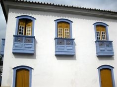 Balcony and Windows. Paraty. Brazil
