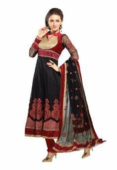 Fabdeal Women's Indian Designer Wear Embroidered Salwar Black & Red Fabdeal, http://www.amazon.de/dp/B00GD6CZ8U/ref=cm_sw_r_pi_dp_O69otb00XX340