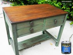 Reclaimed & Lovely Furniture, https://www.facebook.com/reclaimedandlovelyfurniture?fref=ts, got that gorgeous rich wood on top with the help of General Finishes Java Gel Stain.  You can find your favorite GF products at Woodcraft, Rockler Woodworking stores or Wood Essence in Canada. You can also use your zip code to find a retailer near you at http://generalfinishes.com/where-buy#.UvASj1M3mIY.  #generalfinishes #gfgelstain #javagel