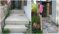 Maintenance is a necessity for any homeowner and our home is certainly no different. Our front porch was getting pretty shabby. So we tore out our old porch and made it new! This is how the proc… House Front, Front Porch, Front Doors, Outdoor Living, Outdoor Decor, Diy Home Improvement, Curb Appeal, Garden Landscaping, Yard