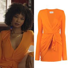 Orange Cocktail Dresses, Orange Dress, Natural Hair Short Cuts, Dress Outfits, Fashion Outfits, Short Dresses, Formal Dresses, Costume Design, Ideias Fashion