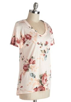 Florist's Apprentice Tee. Learning to create compelling bouquets? #pink #modcloth