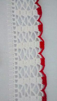 Vou tentar fazer. Crochet Edging Patterns, Crochet Lace Edging, Crochet Borders, Crochet Stitches, Crochet Clutch, Bag Pattern Free, Crochet Skirts, Passementerie, Embroidery Techniques