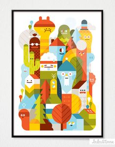 Character city - Lovely illustrations from a series of new prints.