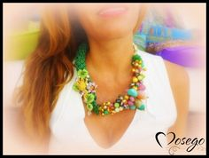 COLLAR ANIMALS GREEN FROG @mosegobisuteria #necklace #jewelry #bijoux #handmade #exclusive #crystal #rhinestone #swarovski #frog #preciosavane #withlove www.mosego.com info@mosego.com