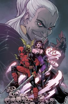 Deadpool e Dracula 2 Marvel Comic Character, Marvel Comic Books, Marvel Art, Marvel Dc Comics, Marvel Characters, Cosmic Comics, Dead Pool, Dracula, Minis