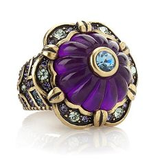 """Heidi Daus """"This Rocks!!"""" Crystal-Accented Carved Ring"""