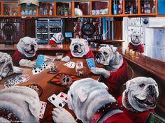 Bulldogs playing poker