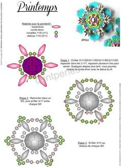 SPRING pattern pendant  - 1 I made a small mistake in counting the 7th stage ... So I put the corrected pendant Spring pattern.