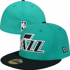 Utah Jazz New Era NBA 59Fifty Fitted Hat (Teal)