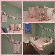 Mint-roze meidenkamer