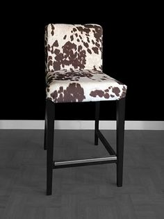 IKEA HENRIKSDAL Bar Stool Chair Cover Udder Madness Milk Brown (faux cow hide) by RockinCushions