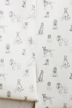 Anthropologie Dog's Life Wallpaper