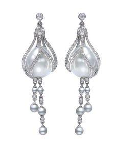 Mikimoto Fuchsia pearl earrings | Gorgeous!! :) | Pinterest
