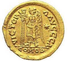 Collezione privata. Solido di Teodorico in nome di Anastasio_Retro.