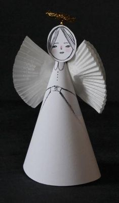 Paper Angel Craft for Kids   Try making this precious Christmas craft with your kids this holiday season!