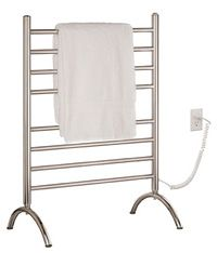 Towel Warmer - Free Standing, Floor Mount - Pearl by Myson - Must have for basement bath!