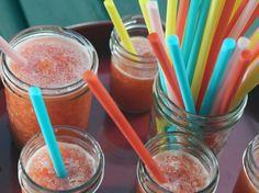 Strawberry Lemonade Slushes Recipe : Nancy Fuller : Food Network - FoodNetwork.com  REMEMBER TO ADD VODKA!!