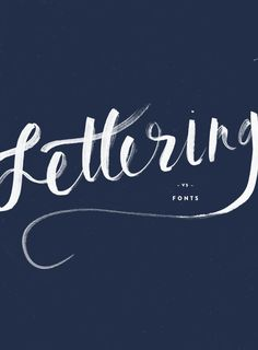 Brushed lettering. Love this modern calligraphy brush style lettering.
