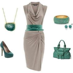 cute dress and nice colors together