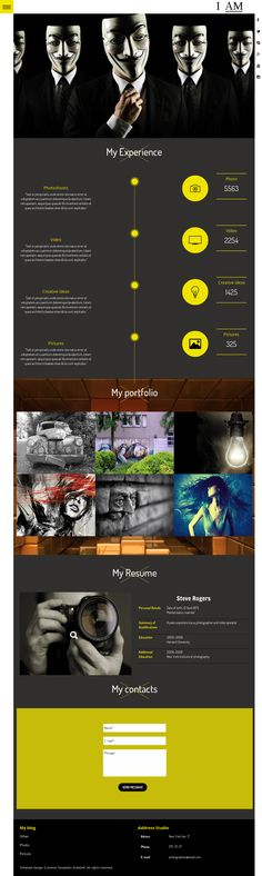 BizOne - One Page WordPress Theme Drupal and Wordpress - wordpress resume themes