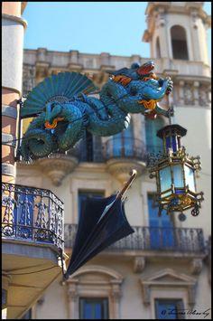 Chinese dragon, Las Ramblas, #Barcelona