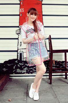Transparent EVA Raincoat Women Girls Men Clear Rain Coat slicker rainwear