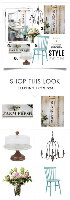 """""""Bakery styled kitchen"""" by theworldisatourfeet ❤ liked on Polyvore featuring GALA, GG Collection, Feiss, LSA International, Serena & Lily, kitchen, bakery and polyvoreeditorial"""