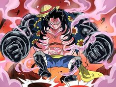 Luffy Gear 4  http://saqibsomal.com/2015/12/ 18/one-piece-approaches-burning-blood/
