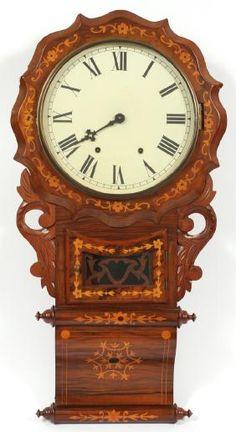 DuMouchelles - Fine Arts, Jewelry and Antique Furniture Brown Clocks, Old Clocks, Antique Clocks, Clock Shop, Marquetry, Antique Furniture, Farmhouse Style, Jewelry Art, Grandfather Clocks