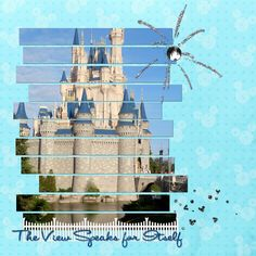 Photo cut into strips. ---> ABSOLUTELY love this idea for a MK pic!