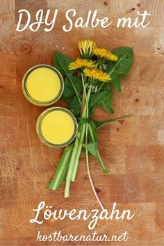 Löwenzahn-Salbe einfach selbst herstellen Dandelion is a versatile and healthy herb. With this ointment, you can save some of his powers and use them to care for your skin. Belleza Diy, Aloe Vera, Slippery Elm, Healthy Herbs, Natural Cosmetics, Herbal Medicine, Ayurveda, Diy Beauty, Natural Remedies