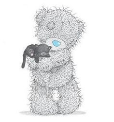 Tatty Teddy and kitty Teddy Images, Teddy Bear Pictures, Cute Images, Cute Pictures, Tatty Teddy, Illustration D'ours, Illustrations, Photo Ours, Art D'ours