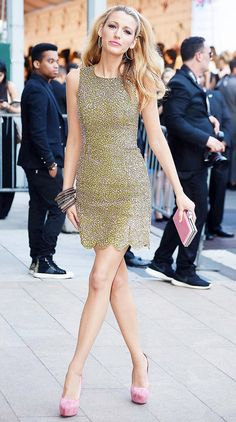 How To Get Blake Lively's Covetable Style via @WhoWhatWear Love the hair, the dress, the shoes, yes