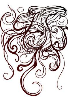 tangled element Royalty Free Stock Vector Art Illustration
