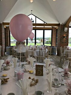 Tulle covered balloon centre pieces finished with hessian and lace bows and fairy lights at Aston Marina Boathouse - Stone, Staffordshire. Perfect for weddings, Christenings and parties. Christening Table Decorations, Baby Shower Table Decorations, Baby Shower Party Favors, Baby Shower Centerpieces, Baby Shower Themes, Balloon Centerpieces Wedding, Balloon Table Centerpieces, Centrepieces, Christening Balloons