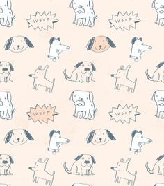 dumb dogs doodle - pattern